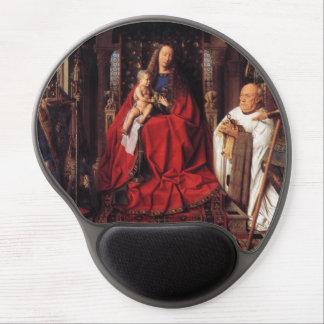 The Madonna with Canon van der Paele, Jan van Eyck Gel Mouse Pad