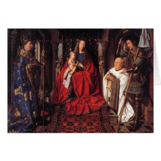 The Madonna with Canon van der Paele, Jan van Eyck Note Card