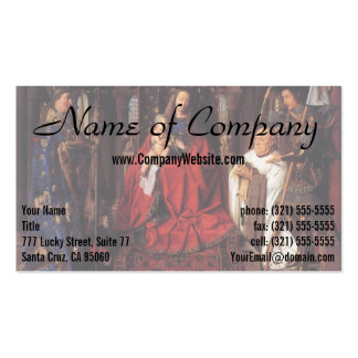 The Madonna with Canon van der Paele, Jan van Eyck Pack Of Standard Business Cards