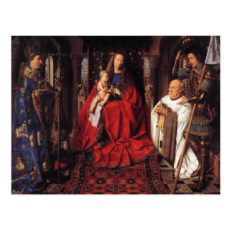 The Madonna with Canon van der Paele, Jan van Eyck Postcard