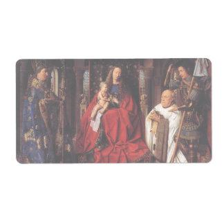 The Madonna with Canon van der Paele, Jan van Eyck Shipping Label