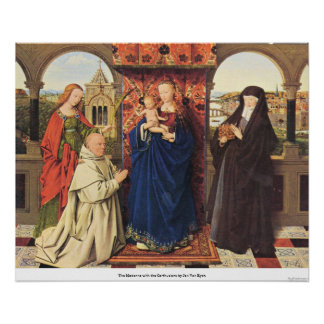The Madonna with the Carthusians by Jan Van Eyck Posters