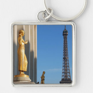 THE MADWOMEN OF CHAILLOT - Eiffel Tower Silver-Colored Square Key Ring
