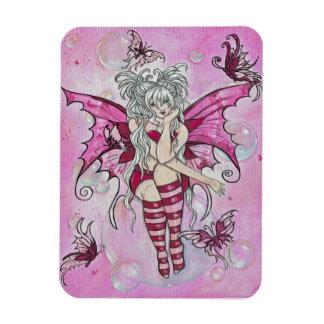 """The Magenta Fairy"" fantasy magnet"
