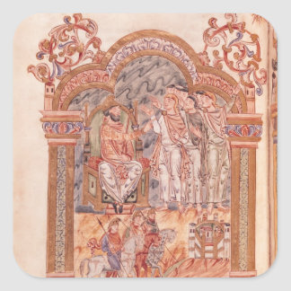 The Magi Visiting King Herod Square Sticker