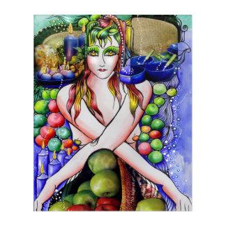 The Magic Apples Girl Portrait Acrylic Wall Art