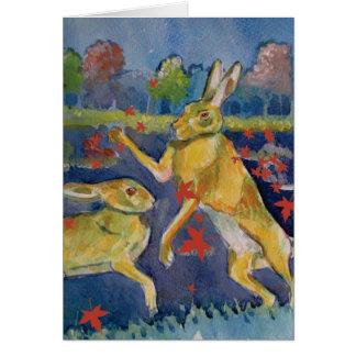 """The Magic Hares"" Greeting Card"