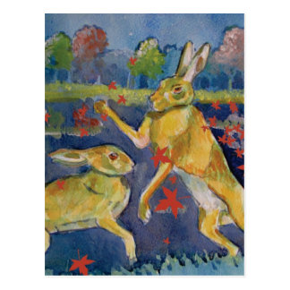 """The Magic Hares"" Post Card"