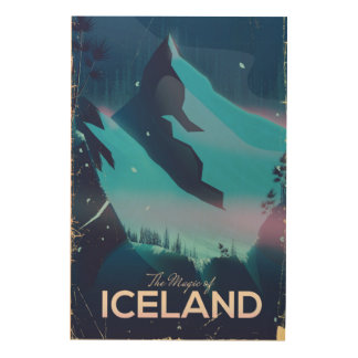 The Magic of Iceland travel poster
