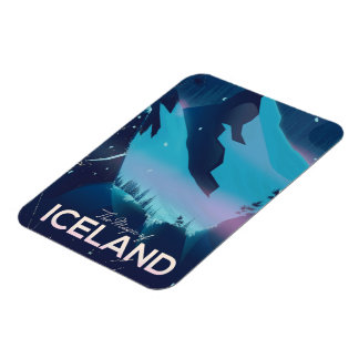 The Magic of Iceland travel poster Rectangular Photo Magnet