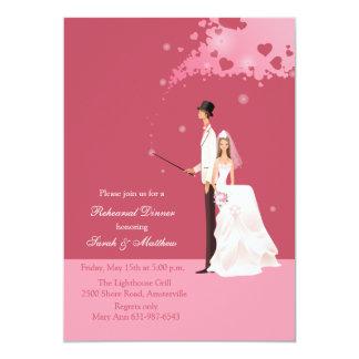 The Magic of Love Rehearsal Dinner Party Invitatio 13 Cm X 18 Cm Invitation Card