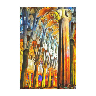 The Magic of the Sagrada Familia Canvas Print