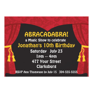 The Magic Show Invitations
