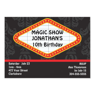 The Magic Show Marquee Card