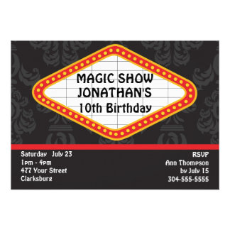The Magic Show Marquee Custom Announcement