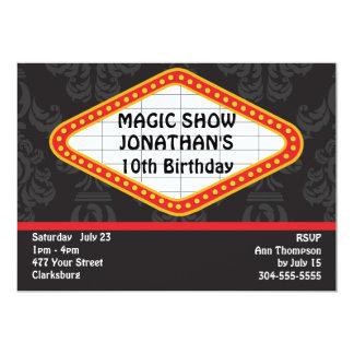 The Magic Show Marquee 13 Cm X 18 Cm Invitation Card