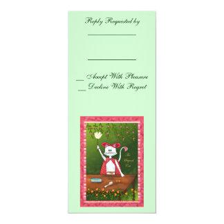 "The Magical Cat 4"" X 9.25"" Invitation Card"