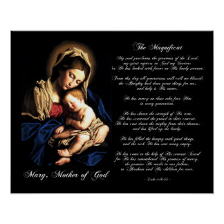 The Magnificat - Madonna and Child Custom Poster