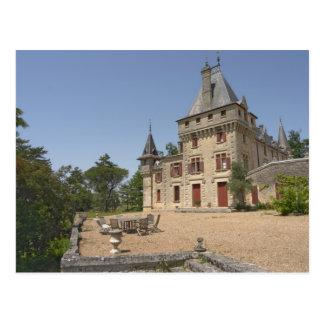 The magnificent Chateau de Pressac and garden Postcard