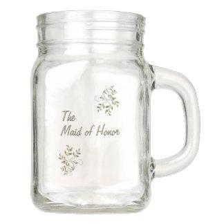The Maid of Honor Mason Jar