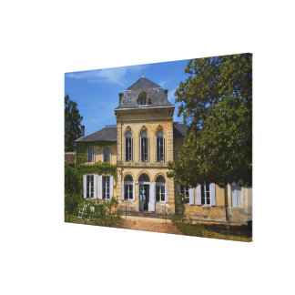 The main chateau building, renovated by canvas print