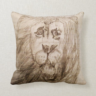 The Majestic Lion Throw Pillow