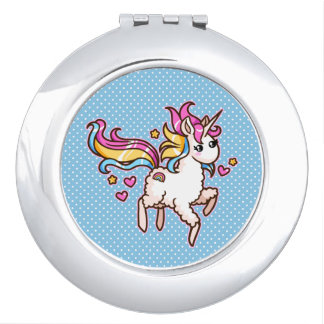 The Majestic Llamacorn Mirrors For Makeup
