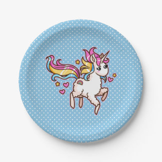 The Majestic Llamacorn Paper Plate