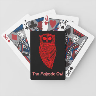 The Majestic Owl Playing Deck Bicycle Playing Cards
