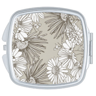 The make-up of Floral Classic Mirror Mirror For Makeup
