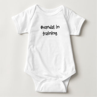 The making of a #vandal baby bodysuit