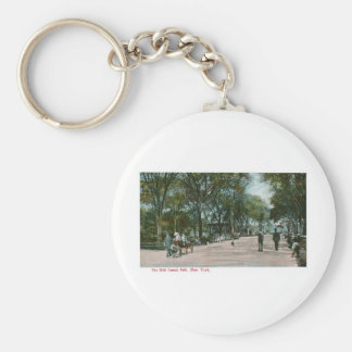 The Mall Central Park, New York Basic Round Button Key Ring