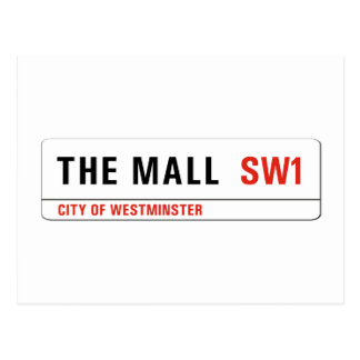 The Mall, London Street Sign Postcard