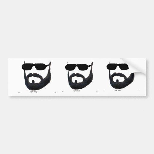 The Man Beard Bumber Sticker by :da'vy Bumper Stickers