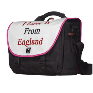 The Man I Love Is From England Bag For Laptop