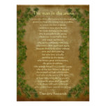 """""""The man in the arena"""" Parchment with ivy"""