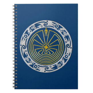 The Man in the Maze - Ornament gold silver Notebook