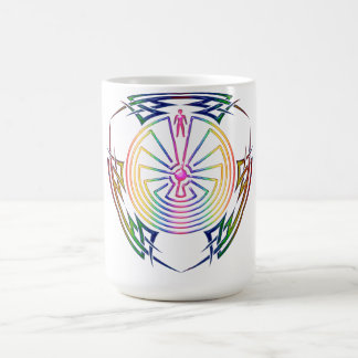 The Man in the Maze - Tribal Tattoo colored Coffee Mug