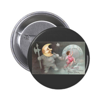 The Man in the Moon Vintage New Year s Day Buttons