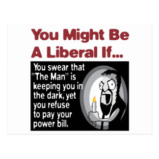"""The Man"" keeps you in the dark Postcard"