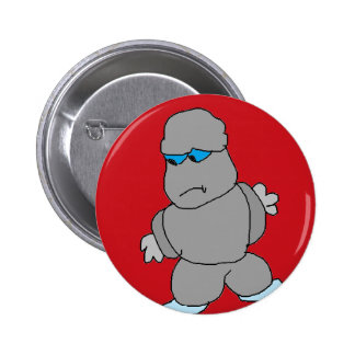 The Man made of Rocks Pinback Button