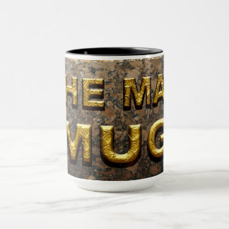 The Man Mug faux gold and stone typography