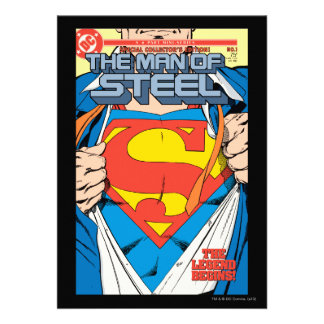 The Man of Steel 1 Collector s Edition Invitation