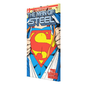 The Man of Steel #1 Collector's Edition Canvas Print