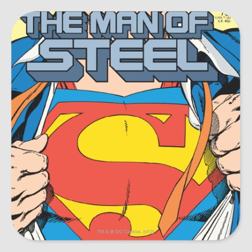 The Man of Steel #1 Collector's Edition Stickers