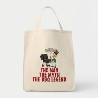 The Man, The Myth, The BBQ Legend Tote Bags