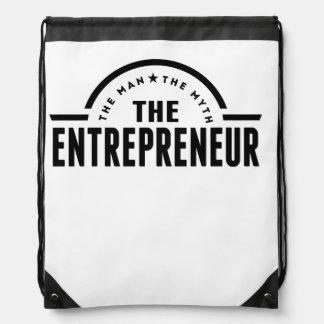 The Man The Myth The Entrepreneur Drawstring Backpack