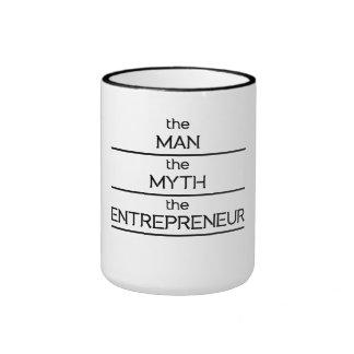The Man The Myth The Entrepreneur Ringer Mug