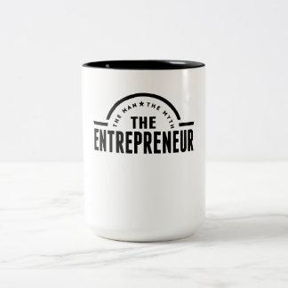 The Man The Myth The Entrepreneur Two-Tone Mug