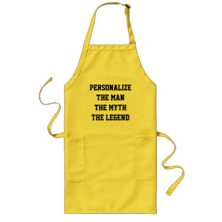 The man the myth the legend BBQ aprons for man